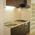 キッチンは、システムキッチン新規設置。