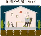 地震や台風に強い