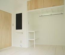 黒板・オープン収納のあるアパート